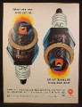 Magazine Ad for AC Fire-Ring Spark Plugs, Self Cleaning, Made in U.S., 1966