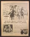 Magazine Ad for MGM Movie Cimarron Ticket Inside Quaker Oats, Glenn Ford, 1961