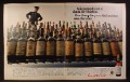 Magazine Ad for Canadian Club Whiskey, Prohibition Era Seizure of 65 Similar Bottles, 1970