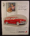Magazine Ad For Dodge Coronet Sierra 4 Door Station Wagon, Neighbors Admiring, 1952