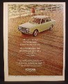 Magazine Ad For Toyota Corona Car, Green, On Boardwalk or Pier, 1970