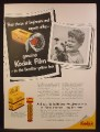Magazine Ad For Kodak Duo-Pak Film, Yellow Box, Dispenser Rack, 1953