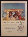 Magazine Ad For Rust Craft Cards, Christmas Nativity Scene, Box of Cards, 1953