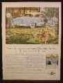 Magazine Ad For Chevrolet Delray Coupe Car, Light Blue, Rear & Side View, 1954