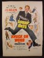 Magazine Ad For Knock On Wood Technicolor Movie, Danny Kaye, Poster, 1954