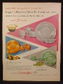Magazine Ad For Anchorglass Dinnerware, Anchor Hocking Glass Corp, 1954