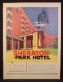 Magazine Ad For Washington DC Sheraton-Park-Hotel, Sheraton Park Hotel, 1954