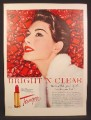 Magazine Ad For Bright 'N Clear Tangee Lipstick, Lip Stick, Makeup, 1954
