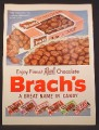 Magazine Ad For Brach's Candy in Boxes, Broxies Jots Treats, Creme Drops, Mallows, 1954