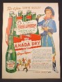 Magazine Ad For Canada Dry Ginger Ale, Annie Oakley Cowgirl TV Show, Carton, 1954