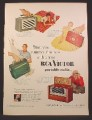 Magazine Ad For RCA Victor Portable Radios, Globe Trotter, Yachtsman, Strato-World, 1954