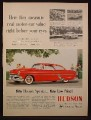 Magazine Ad For Hudson Special Hornet Car, Red Side View, 1954