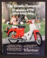 Magazine Ad For Honda Passport Motorcycle, Scooter, 778 Dollars, 1982