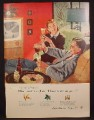 Magazine Ad For Beer Belongs, Number112, Between Innings, Pruett Carter, 1955