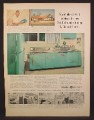Magazine Ad For GE General Electric 9 1/2 Foot Wonder Kitchen, 1955