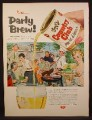 Magazine Ad For Goetz Country Club Malt Liquor, Party Brew, Beer, Large Can, 1955