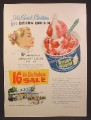 Magazine Ad For Dairy Queen Ice Cream, Sweet Sixteen, Strawberry Sundae Special, 1956