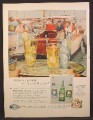 Magazine Ad For Canada Dry Quinine Water, Club Soda, Ginger Ale, Fishing Boat, 1956
