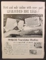 Magazine Ad For Philco Transistor Radios, T-7 T-500 T-700 T-800 Models Shown, 1957