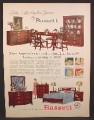 Magazine Ad For Bassett Furniture, Bedroom, Dining Room, Monticello Group, 1957