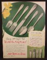 Magazine Ad For 1847 Roger Bros Silverplate Silverware Flatware, Daffodil Pattern, 1950