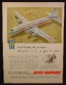 Magazine Ad For Borg-Warner, Worked with Douglas on DC7 Airliner Airplane, 1954