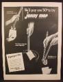 Magazine Ad For Jonny Mop, Clean Toilet Bowl, Foam Pads, 1954
