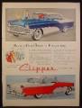 Magazine Ad For Packard Clipper Custom Constellation Car, Custom 4 Door, Side Views, 1955