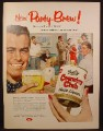 Magazine Ad For Goetz Country Club Malt Liquor, Beer, Large Can, House Party, 1955
