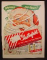Magazine Ad For Chesterfield Cigarettes, Santa Claus with Wrapping, Gift Box, 1955