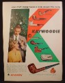 Magazine Ad For Kaywoodie Pipes, 8 Models, Pictured, 1955