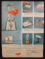 Magazine Ad For Oster Electric Appliances, Osterizer Blender, Stim-U-Lax Junior Virbrator, 1955