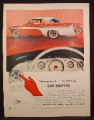 Magazine Ad For De Soto Fireflite Sportsman Car, Crimson & White, Push Button Gear Shift, 1956