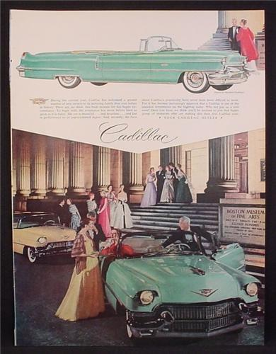 Magazine Ad For Cadillac Cars, In Front of The Boston Museum Of Fine Arts, 1956