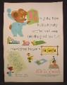 Magazine Ad For Hewitt-Robins, Resty The Bear, Bedding, Mattresses, Flooring, 1956