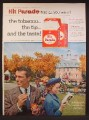 Magazine Ad For Hit Parade Cigarettes, Historic Williamsburg in Virginia, 1957