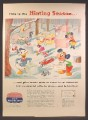 Magazine Ad For Reynolds Aluminum, Walt Disney Cartoon Characters, Hinting Season, 1957