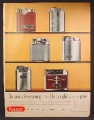 Magazine Ad For Ronson Lighters, 6 Models Pictured, Essex, Capri, Sport, Adonis, 1957