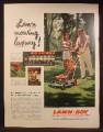 Magazine Ad For Lawn-Boy 21 Inch Self Propelled Lawn Mower, Automower, 1957