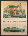 Magazine Ad For Plymouth Sport & Custom Suburban Car, Station Wagon, 1957
