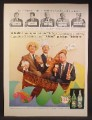 Magazine Ad For Canada Dry Ginger Ale, Club Soda, Three Men In A Tub, 1957