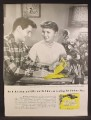 Magazine Ad For Western Union Telegram, Mother's Day, Eddie Fisher & Debbie Reynolds, 1957