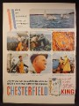 Magazine Ad For Chesterfield King Cigarettes, Men Of America, Lobster Fisherman, 1959