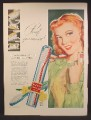 Magazine Ad For Dr. West's tooth Brush, Proof You Can See, Pretty Redhead Girl, 1947