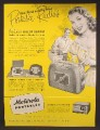 Magazine Ad For Motorola Portable radios, Dial In Handle, Model 58L11, 1948