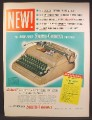 Magazine Ad For Smith Crona Portable Typewriter, Color Speed Keyboard, 1949