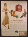 Magazine Ad For Zenith Black Magic Television, TV with Cobra-Matic Record Player, 1951