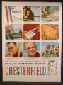 Magazine Ad For Chesterfield Cigarettes, Men Of America, The Loggers, 1958