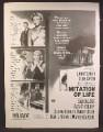 Magazine Ad For Imitation Of Life Movie, Lana Turner, John Gavin, Poster, 1959