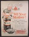 Magazine Ad For Shinola Wax Liquid Shoe Polish, Bottle & Can, Boy Leapfrogging Over Box 1960
